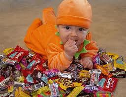 Baby on candy